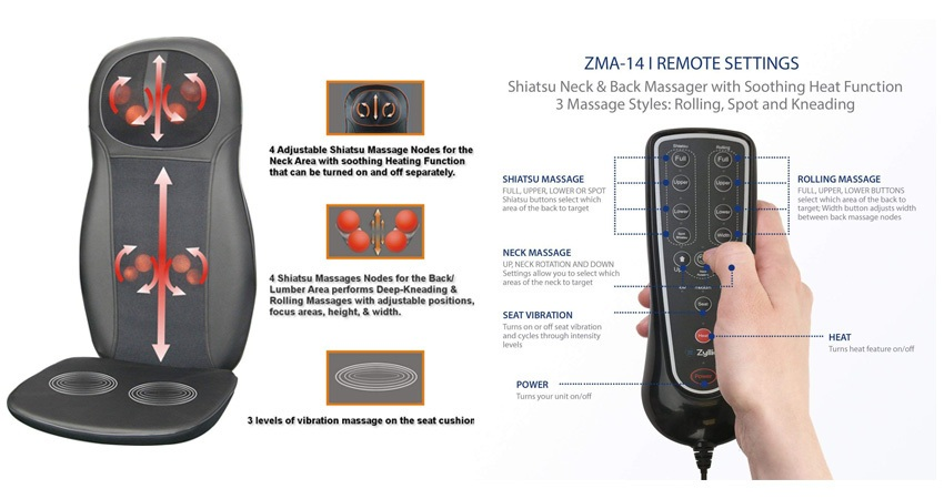 Zyllion ZMA14 Shiatsu Neck