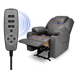 Furgle Large Power Lift Recliner Chair with Heat and Massage
